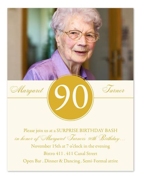 90 Birthday Invitation Card Template by 15 90th Birthday Invitations Tips Sle Templates