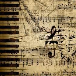 Vintage Sheet Background by Musiknoten Auf Altem Papier Blatt Hintergrund Stockfoto