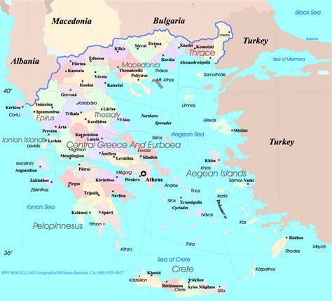 greece map cities