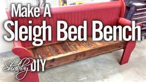 how to make a footboard how to make a bench from an sleigh bed headboard