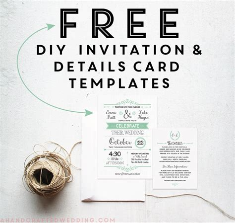 free printable wedding invitation template free