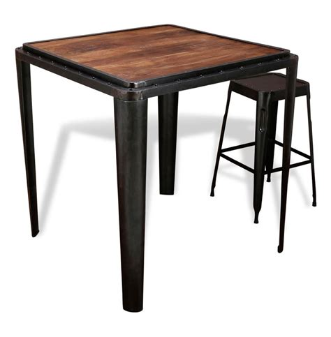 Metal Bar Table Talor Industrial Antique Metal Bar Table Kathy Kuo Home