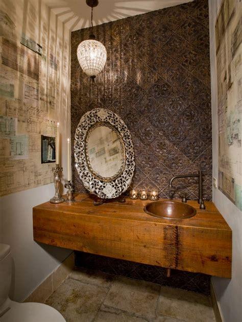 wood slab vanity houzz