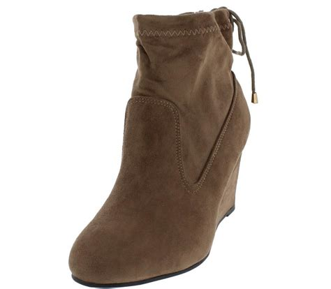 Boots Wedges 88 wheel8 taupe stretch lace up closure wedge ankle boots from 12 88 27 88