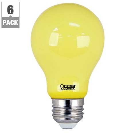 yellow led bug light feit electric 60w equivalent yellow colored a19 led bug