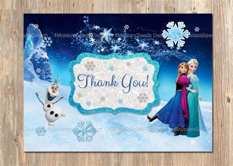 printable frozen thank you cards disney s frozen thank you card instant download