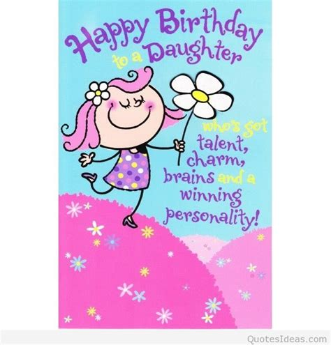 Quotes For Daughters Birthday From Cards Happy Birthday Daughter