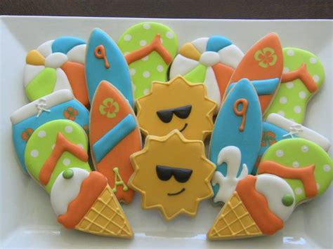 Summer Decorated Cookies by Summer Themed Decorated Sugar Cookies