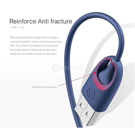 Baseus Rainbow Lightning Cable 24a With Mfi Certified Original baseus 1 meter pc rainbow apple mfi certification cable blue