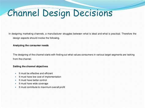 channel design decisions management retail and distribution management