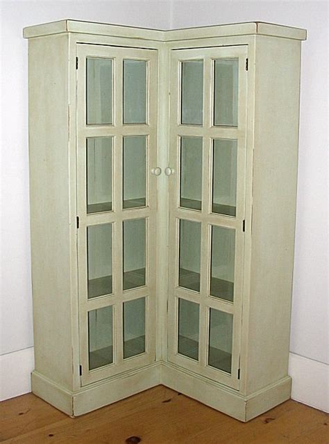 corner cabinet with glass doors cottage corner bookcase by bradshaw kirchofer