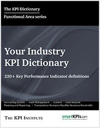 kpi reference book kpi dictionaries industries