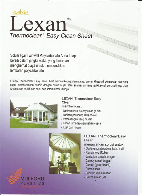 Harga Clean And atap polycarbonate lexan easy clean pt cahaya bangun