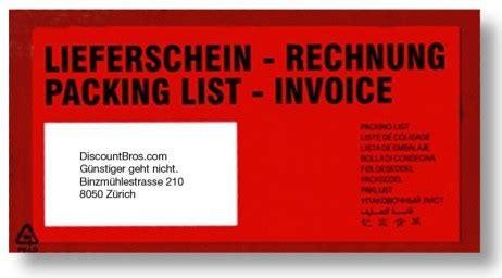 Rechnung Schweiz Unter 1000 1000 stk stk docufix 174 rechnung lieferscheintaschen