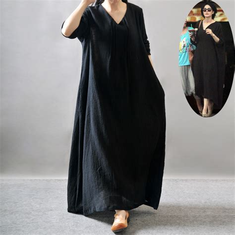 Big Size Dress Casual Black Bell Sleeve Branded Murah s plus size maxi dresses casual and formal wear