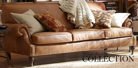 pottery barn leather sectional pottery barn brooklyn leather sofa family room re do