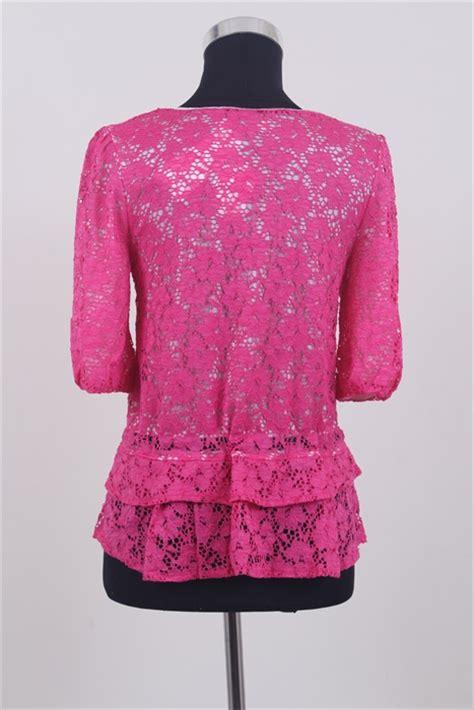 atasan wanita brokat warna pink model terbaru jual