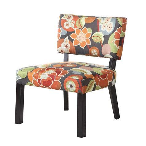 Printed Accent Chair Dreamfurniture 383 936 Bright Floral Print Accent Chair