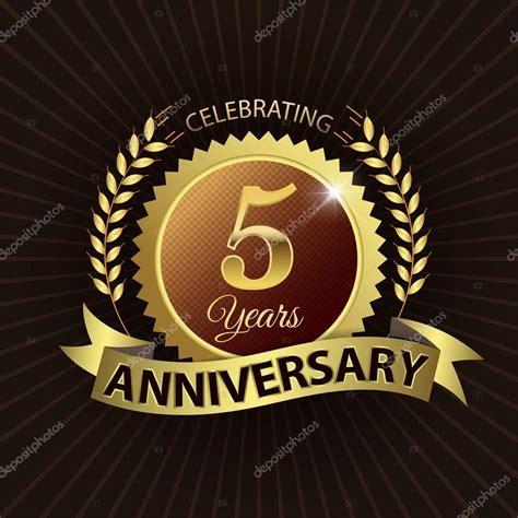 Celebrating 5 Years Anniversary, Golden Laurel Wreath Seal
