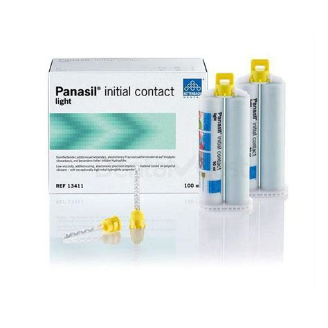 Contact Light panasil initial contact impression material 2 pcs of 50