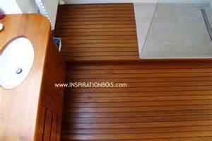 parquet de salle de bain en teck plancher pont de bateau