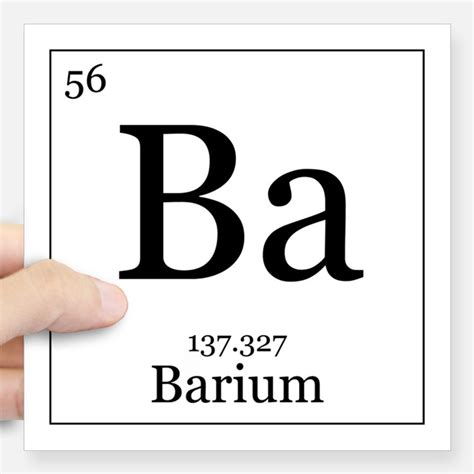 Ba On The Periodic Table by Periodic Table Barium Stickers Periodic Table Barium