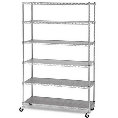 chrome 6 layer shelf adjustable steel wire metal shelving