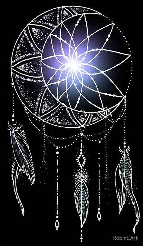 quot mooncatcher original dreamcatcher mandala quot by robineart