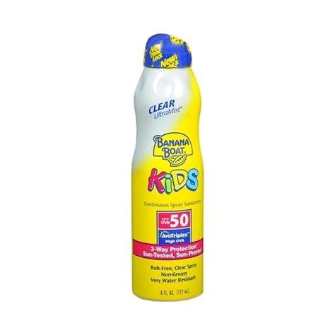 banana boat sunscreen and moisturizer banana boat kids ultramist 174 sunscreen spf 50 beautylish