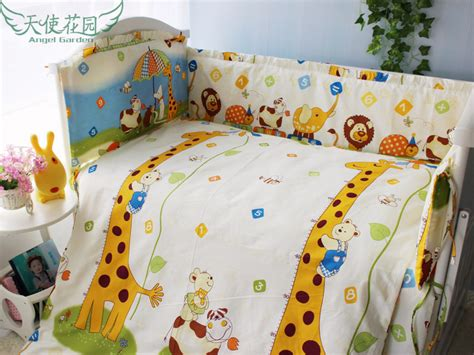 soft baby crib sheets giraffe soft baby sheets set 100 cotton baby crib bedding set 120 70cm 5 pcs set cot