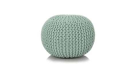 blue knitted pouffe george home duck egg blue knitted pouffe footstools