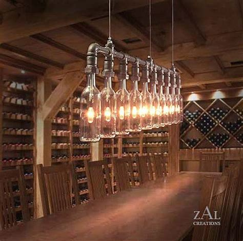 Pendant Light Wine Beer Bottles Suspension L Wine Cellar Chandeliers