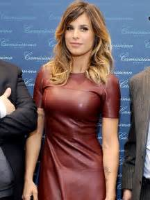 elisabetta canalis chesty in tight leather at