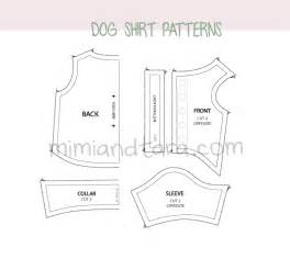 Dog shirt patterns mimi amp tara free dog clothes patterns