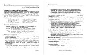 Information Security Specialist Sle Resume by Sle Resume For An Information Security Specialist