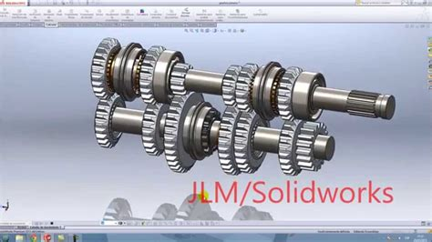 solidworks tutorial gearbox solidworks gearbox in motion youtube