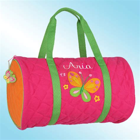Personalized Quilted Duffle Bags by Quilted Duffle Bag Personalized And Embroidered Butterfly