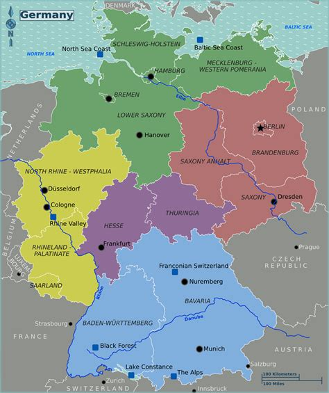 germany map states large map of germany with states bundesl 228 nder