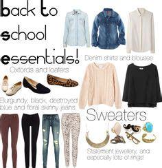 college wardrobe essentials on college