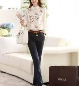 Atasan Wanita Kemeja Kerja Putih Kerah Renda Neci Jumbo 1 atasan leopard wanita lengan panjang 2014 model terbaru