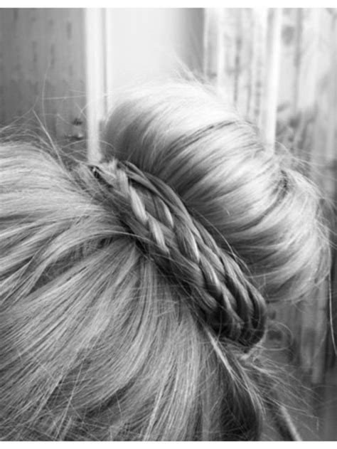 bun with braid around it how to hair styles collection sock bun with braid