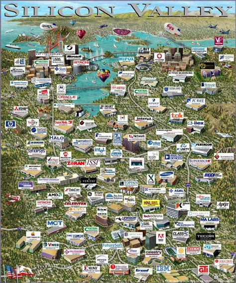 silicon valley usa map silicon valley scopri il tour tra le sedi di apple