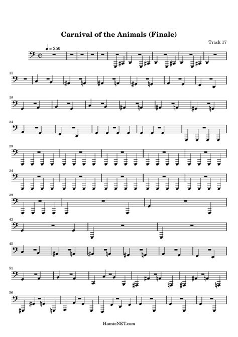 Carnival of the Animals (Finale) Sheet Music - Carnival of