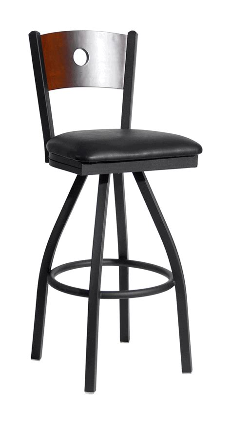 commercial swivel bar stools with back commercial circle back swivel bar stool bar restaurant