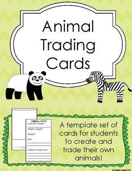 animal trading card template best 25 trading card template ideas on diy
