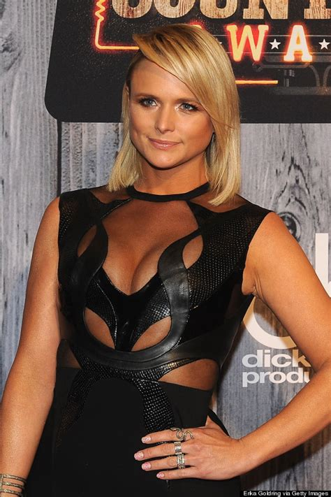 maserati lambert miranda lambert rocks a sheer cutout dress at the acc