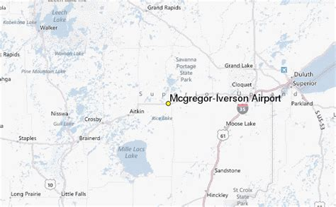 mcgregor iverson airport weather station record