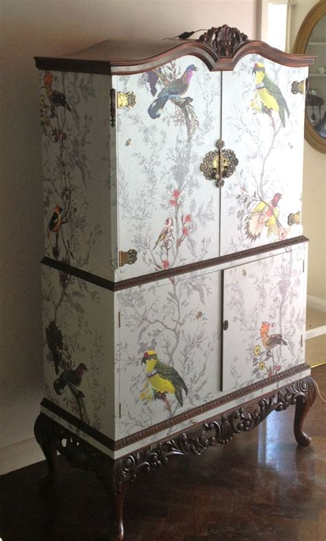 decoupage furniture with wallpaper 10 best images about papered