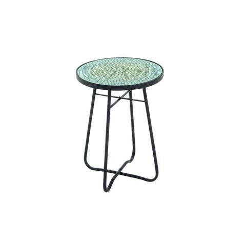 16 inch wide table shop metal glass turquoise accent table 16 inches