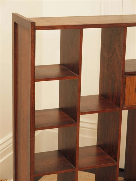 Room Separator Bookcase Rosewood Bookcase Room Divider At 1stdibs